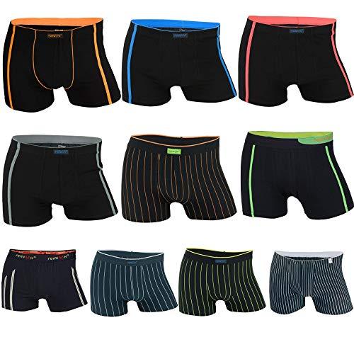 REMIXX - Lot de 10 - Boxer Shorty Homme Coton - Sport Culotte (Mixte, 3XL/9)