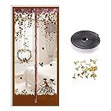 Leikance Cortina de puerta antimosquitos, mosquitera magnética para puerta, transpirable, cortina de malla