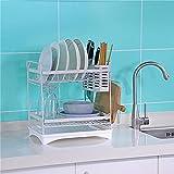 Kitchen shelf Rack Cucina Posate Rack Lavelli Inox Scarico Rack Storage Cucina White-2