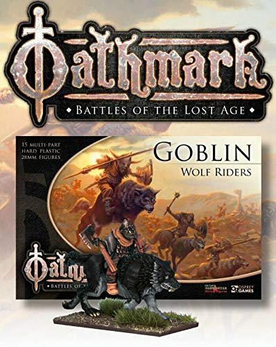 Oathmark - Goblin Wolf Riders (15 multipart Plastic Miniatures) (usable in Age of Sigmar, Kings of War, The 9th Age)