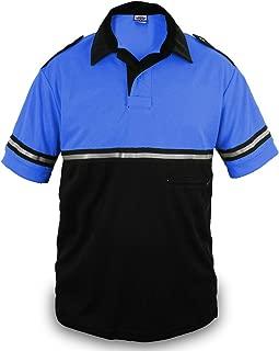 Two Tone Bike Patrol Shirt with Reflective Stripes and Zipper Pocket