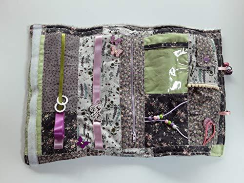 Convertible floral sensory/fidget quilt/muff for dementia sufferers
