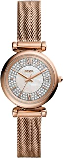 Fossil Carlie Mini Women's White Dial Stainless Steel Analog Watch - ES4836