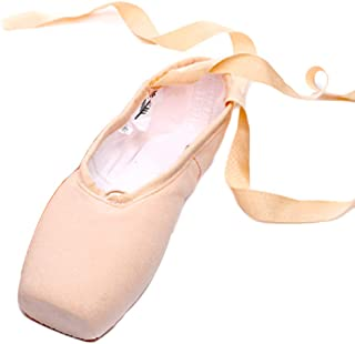 Fulision Women and Kids Strappy Anti-Puncture Sole Ballet Practice Shoes