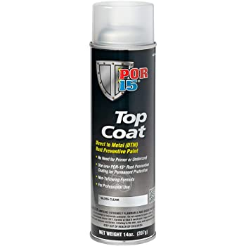POR-15 45718 Top Coat Gloss Clear Spray Paint 14 fl. oz.