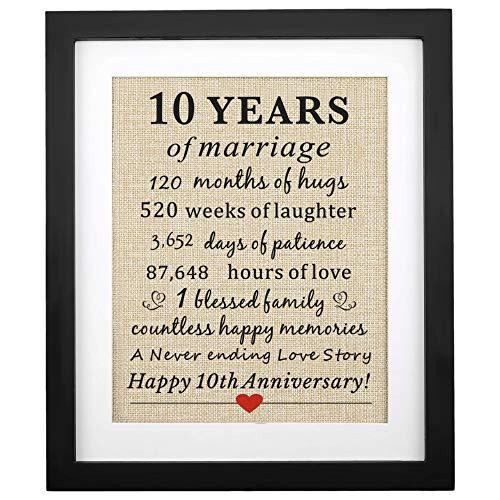 Corfara Framed 10 year wedding anniversary gift for her