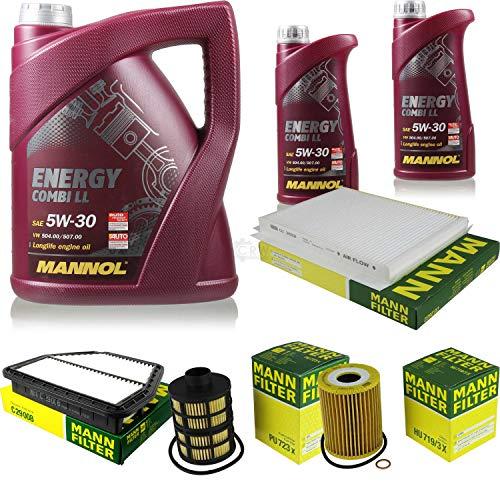 Paquete de inspección 7 litros Energy Combi LL 5W-30 + paquete de filtros MANN 10929745