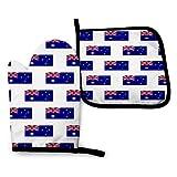 zsxaaasdf Los Guantes para Horno Grande con Bandera Australiana y los Guantes para ollas Son Resistentes al Calor y Antideslizantes para cocinar en la Cocina