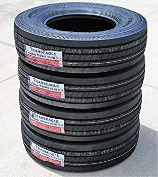 Set of 4  FOUR  Transeagle ST Radial All Steel Heavy Duty Premium Trailer Radial Tires-ST235/80R16 235/80/16 235/80-16 129/125M Load Range G LRG 14-Ply BSW Black Side Wall