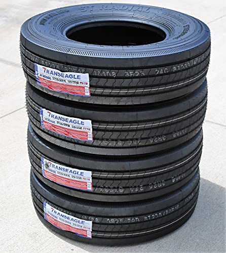 Set of 4 (FOUR) Transeagle ST Radial All Steel Heavy Duty Premium Trailer Radial Tires-ST235/80R16...