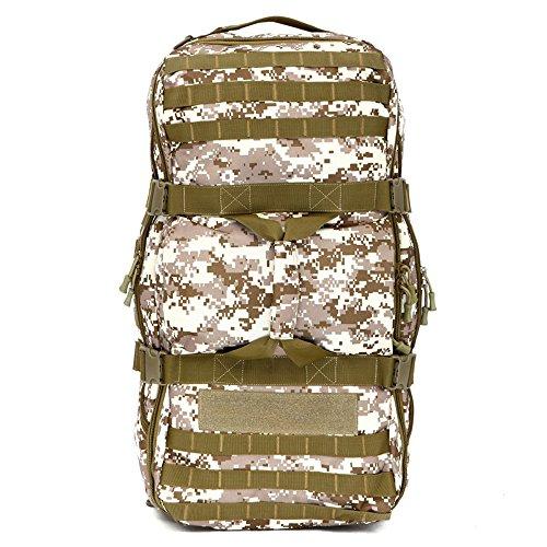 Greenpromise extérieur Militaire Armée Sac à Dos Tactique Molle étanche Camouflage Sac à Dos Lot de Chasse Sports Randonnée Camping Sac à Bandoulière, Desert Camouflage