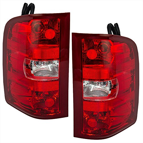 Aftermarket Replacement Driver and Passenger Set Tail Lights Compatible with 2007-2013 Silverado Pickup Truck 25958482 25958483
