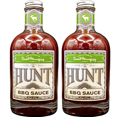 Flavors of Ernest Hemingway Sauces, the Hunt BBQ Sauce, 12 ozs, 2 Pack - Gluten Free, No MSG, No HFCS