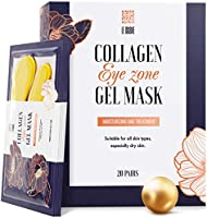 Under Eye Patches - 24K Gold Under Eye Mask Anti-Aging Hyaluronic Acid Collagen Under Eye Pads Reducing Dark Circles &...
