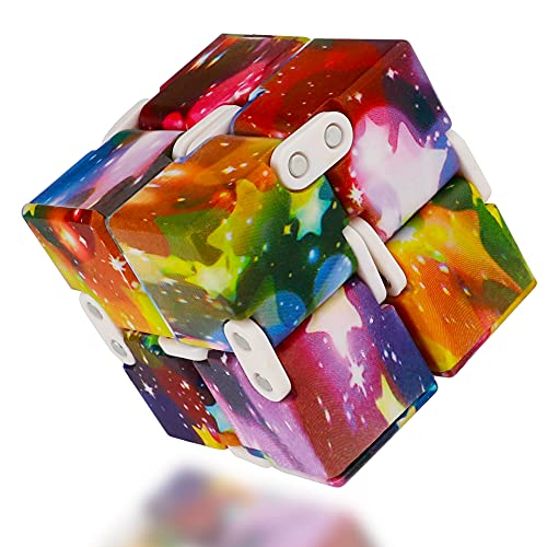 Infinity Cube Fidget Toy, Mini Hand Held Transform Colorful Cubes...
