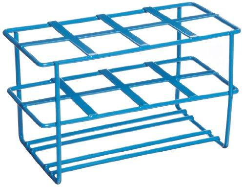 Heathrow Scientific HD232461 Gefäßständer für 50 mL Röhrchen, Epoxy beschichteter Stahl, 147 mm Länge x 80 mm Breite x 89 mm Höhe, Blau