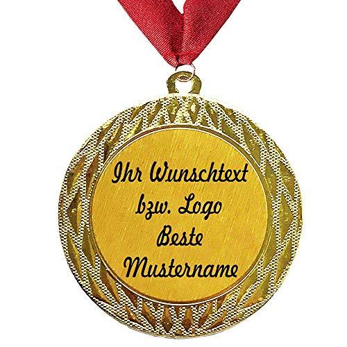 Larius Group Medaille Orden Endlich Rentner BZW. Ihr Wunschtext Geschenk für Rentner zum Renteneintritt (mit Wunschtext und Halsband)
