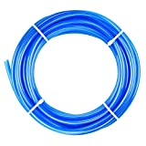Tailonz Pneumatic Blue 1/4 Inch OD 10 Meters PU Air Tubing Pipe Hose Pu Air Hose for Air Line Tubing or Fluid Transfer Tubing