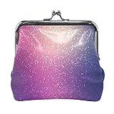 Monedero de piel con purpurina de color morado para mujeres y niñas
