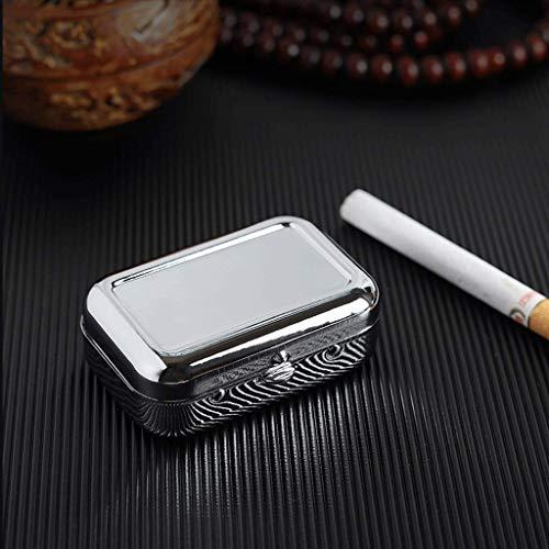 Cigare portable Ashtra, en métal en plein air avec porte-clés pour une utilisation en extérieur, porte-cendres métalliques faciles pour les cigarettes - insipide Porta Intérieur (Couleur: Noir) BJY969