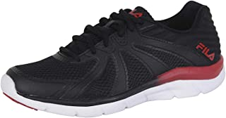 Fila Memory-Fraction-3 Black/Red Memory Foam Running Sneakers Shoes