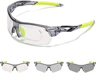 JUASHINE Sports Cycling Sunglasses for Men Women Unbreakable Shade Glasses for Running Bike Large