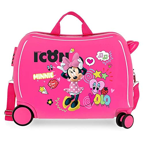 Trolley Minnie Mouse Enjoy Icon Disney da Viaggio 4 Ruote TRAINABILE CM. 50X38X20 in ABS - 2569861