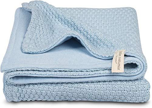 little naturals by Jollein 517-511-64946 Decke 4-Jahreszeiten drops blau Gr.: 75x100cm