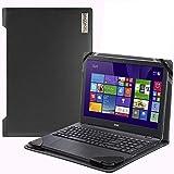 Broonel - Serie de perfiles - Estuche para De Cuero Negro - Compatible con La Acer Aspire 5 A515-55 15.6 Inch Laptop