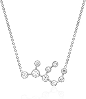 Sterling Silver Zodiac Necklace Constellation Jewelry Birthday Gift Sorority Sister Gift