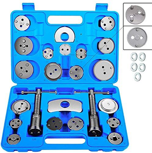 JOMAFA - Reposicionador de pistones de frenos 24 + 5 piezas retractor (para reposicionar el pistón de freno al cambiar los discos, las zapatas o las pastillas de freno)