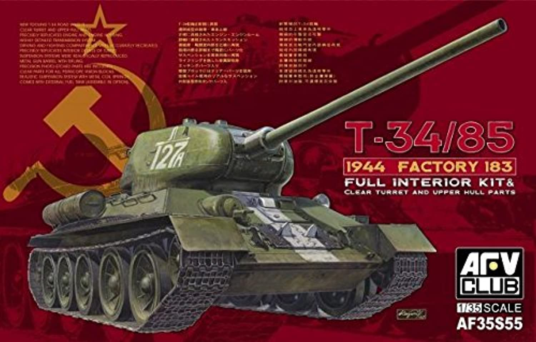 promociones de descuento AFV Club de de de 1 35 T-34 85 Mod 1944 Fábrica n ° 183 con la torreta Transparente (edición Limitada)   35S55  descuento de ventas en línea