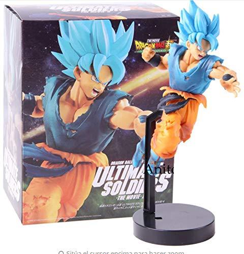 Mc S Figur Son Goku Blue Dragon Ball Z DBZ Super Figure Größe 24 cm DB DBZ Super Kollektion Puppe