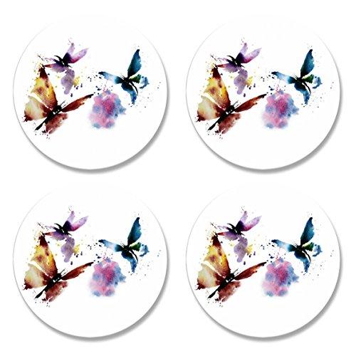 4Pack bedruckt Schneidern Schnittmuster Gewichten. Schmetterling Design von Künstlerin Maria Moos. Inspiriert von der BBC Nähen Bee. (50mm Durchmesser)