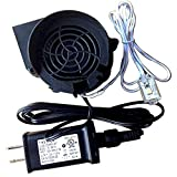 Gemmy Inflatable Replacement Fan Blower with 6' Long Light String with 3 Very Bright LED Lights - 12v/1.5a Adapter - Model JDH1232S