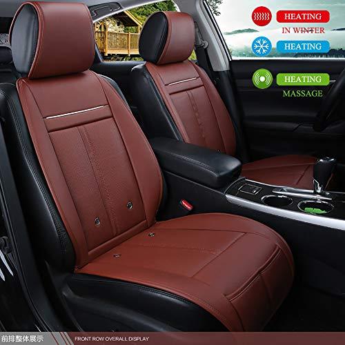 Autostoelkoeler en -verwarming, DC 12V / 24V auto-zitkussen of verwarmingskussen, zitkussen met warmter- en koelfunctie en massagefunctie, autostoelbekleding voor auto 's of bureaustoel (1 stuks)