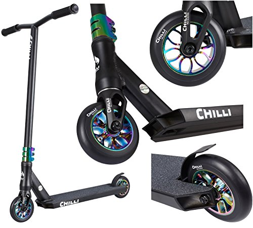 Chilli Scooter 112-9 Reaper Grim Neochrome - Patinete Infantil, Color Cromado