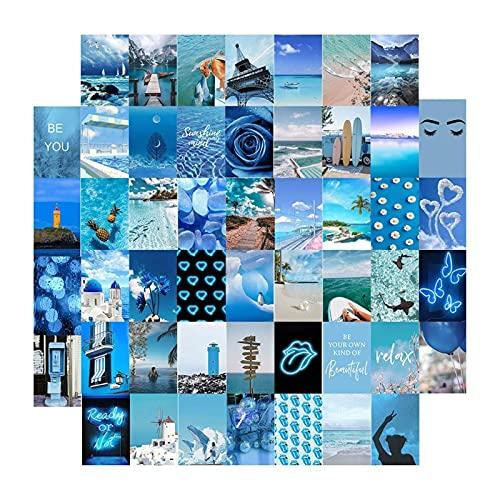 KDHJY 50 unids Póster Poster Tarjetas Postales para Collage De Muro Fotos Arte Collection Kit A Estética Pósteres Sala de Estar Decoración de Dormitorio para niñas (Color : 50pcs)