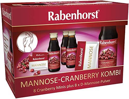 Rabenhorst Mannose-Cranberry Kombi (8 Cranberry Minis + 8 x D-Mannose-Pulver)