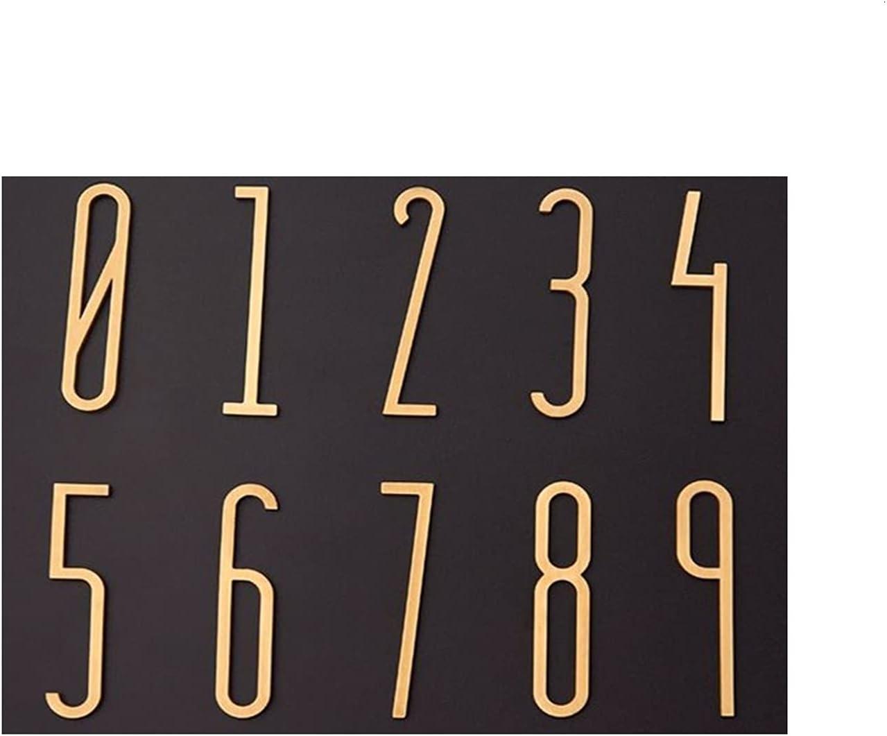 Limited time sale Useful Olden Floating Modern House Number Max 88% OFF Brass Satin Home Door