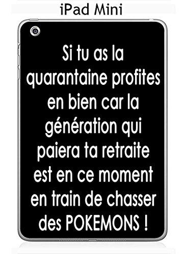 ONOZO Apple iPad Mini Case Design Quote Pokemons White Background Black Text