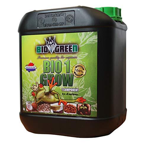 Fertilizante BIO 1 GROW Especial para Cultivos de Cannabis y Marihuana. Mejora su Crecimiento y Floración. No Sulfurada. Producto CE. 5 Litros