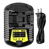 ADVTRONICS 12V/20V MAX DCB105 Charger Compatible with Dewalt DCB101 DCB107 DCB112 DCB115 DCB100 DCB119 12VOLT 20VOLT for Lithium-Ion Battery DCB180 DCB120 DCB127 DCB200 DCB206 DCB205 DCB201 DCB203