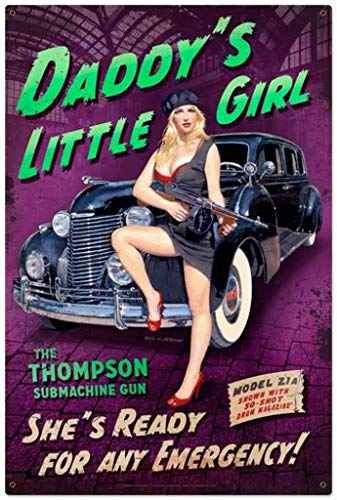 560 WENKLL Daddy's Little Girl 8x12inch Pub Shed Bar Man Cave Home Bedroom Office Kitchen Gift Metal Sign