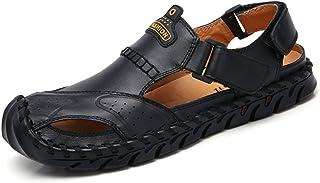 Men Sandals Outdoor Sandals for Men Breathable Summer Beach Shoes Stitch Walking Fisherman Slipper Double Hook&Loop Strap ...