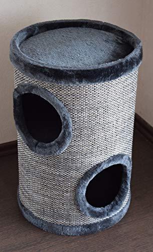 Lemio - Katzentonne Graycys Kratzbaum Katzenbaum Kratztonne 50cm hoch - Möbel für Katzen Spieltonne