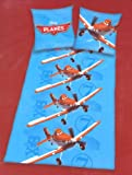 Juego de cama funda de edredón doble cara, reforzado Disney Pixar Planes avión DUSTY TEAM-140 x 200 cm, funda de almohada-Duvet cover