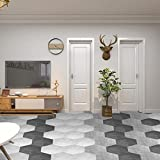 adesivi per piastrelle,adesivi murali autoadesivi,10pezzi adesivi per pavimenti da parete in piastrelle di ceramica esagonali antiscivolo impermeabili,adesivo per piastrelle bagno cucina pavimento