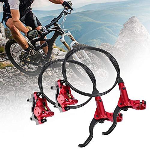 BESTEU 2 Stücke Hydraulische Scheibenbremsen Mountainbike Set Hydraulische Fahrrad Vorne/Hinten Öldruck Bremssatz