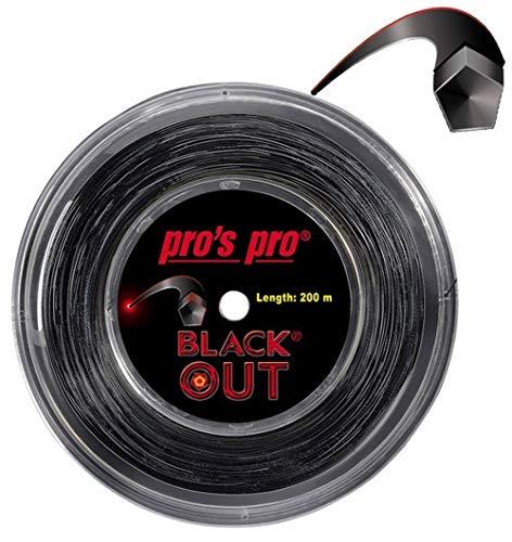 Pro's Pro Blackout - Cordaje de tenis (200 m, 1,24 mm, para Topspin)